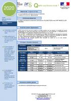 Rapport annuel 2020 qualité de l'eau